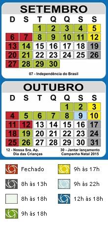 Calendário Set-Out / 2015