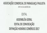 CONVOCAÇÃO - ASSEMBLÉIA