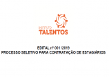 EDITAL n. 001 - 2019 PROCESSO SELETIVO PARA CONTRATAÇÃO DE ESTAGIÁRIOS