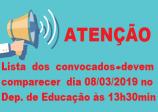 EDITAL DE APRESENTAÇÃO